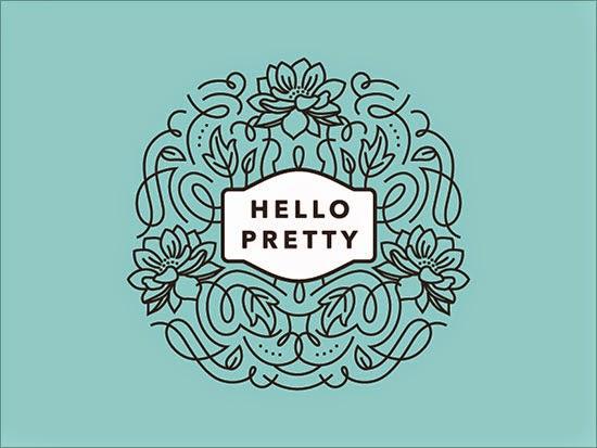 Bold & Thin line Logo Hello Pretty