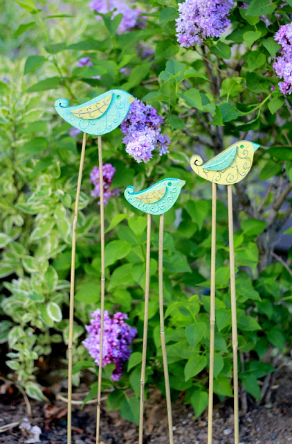 Crafty Sisters Wood You Like To Craft Garden Bird Stakes