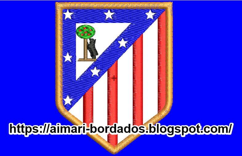 BORDADO ESCUDO ATLETICO MADRID