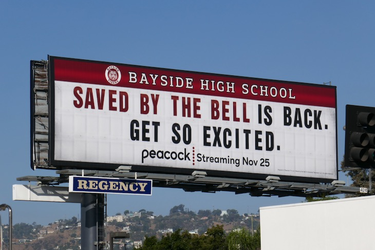 Saved by the Bell is back billboard
