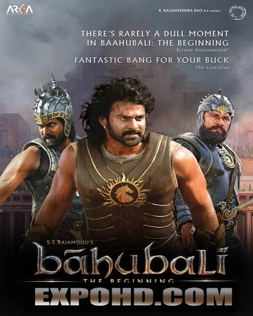 Baahubali The Beginning 2015 South Indian Movie Download 720p | HDRip x 265 ACC 1.3Gb