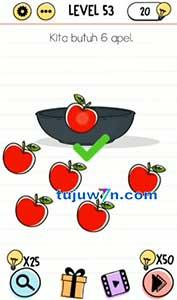 Kita butuh 9 apel brain test
