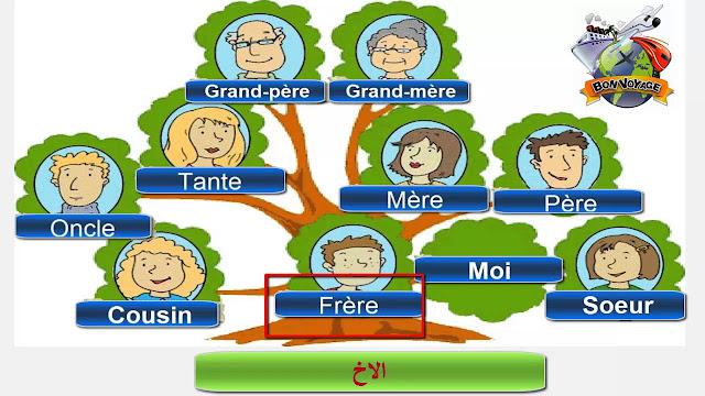 شجرة العائلة بالفرنسية للسنة الثالثة ابتدائي