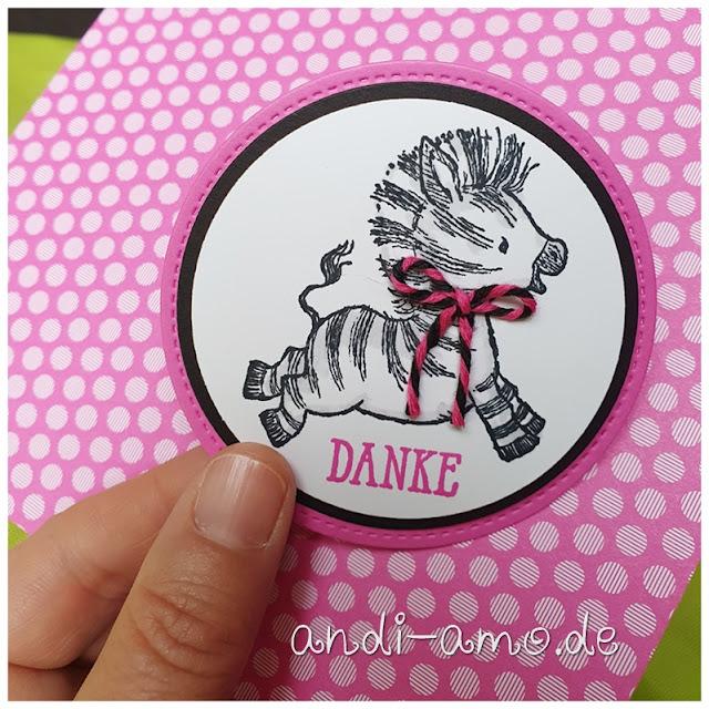 Anhänger Stampin Up Zany Zebras