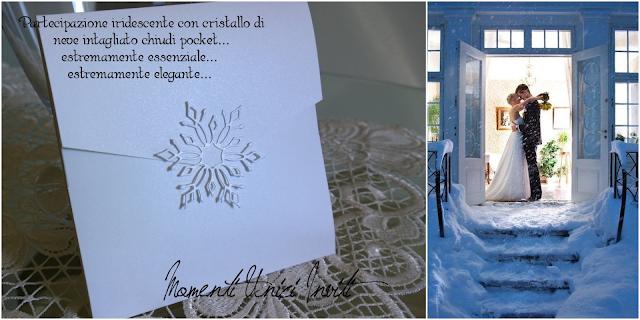 012 Matrimonio d'inverno... le nostre proposte per i vostri inviti!Colore Bianco Colore Blu cover libretti Nozze d'Inverno Partecipazioni intagliate