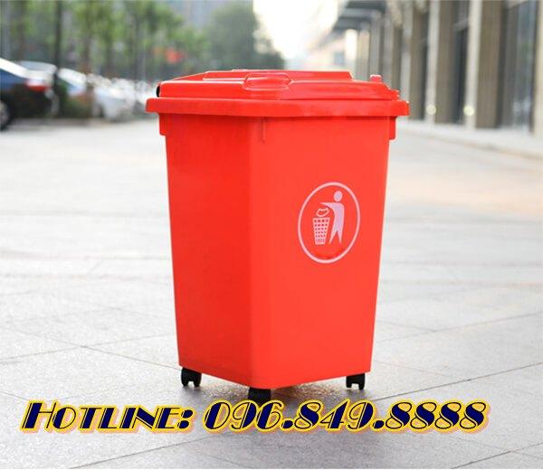 Thùng rác nhựa dung tích 60L