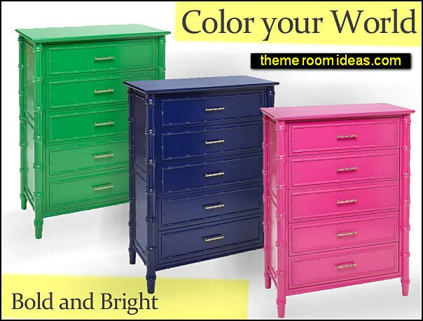 Hayden Bedside Chest  pink furniture green furniture blue furniture colorful boho bedroom furniture