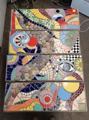 Trittplatten aus Mosaik