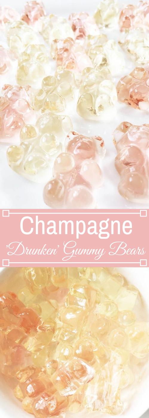 Champagne Soaked 'Drunken' Gummy Bears #diet #healthy #recipes #paleo #gummybears