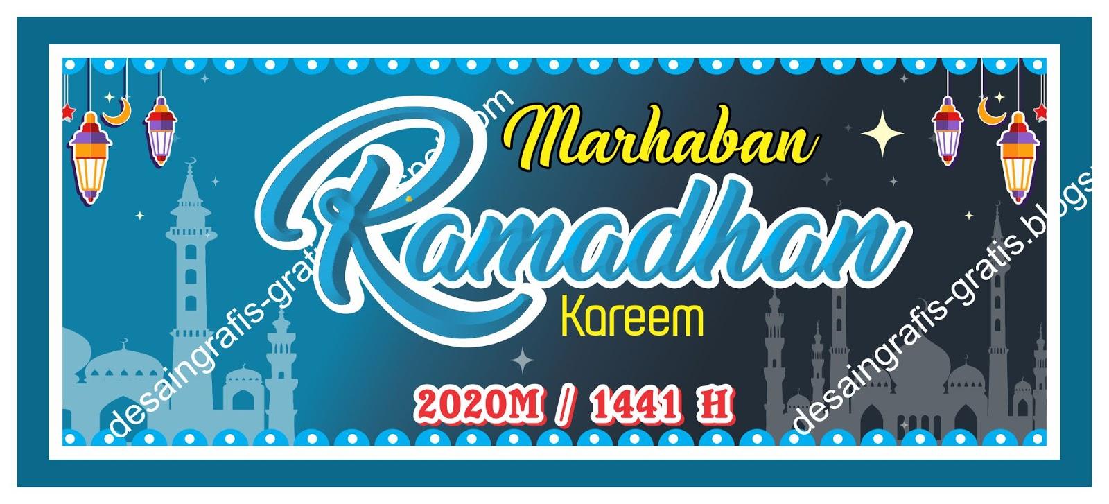 Format Cdr : Desain Grafis Spanduk Ramadhan 1441H/2020 M ...