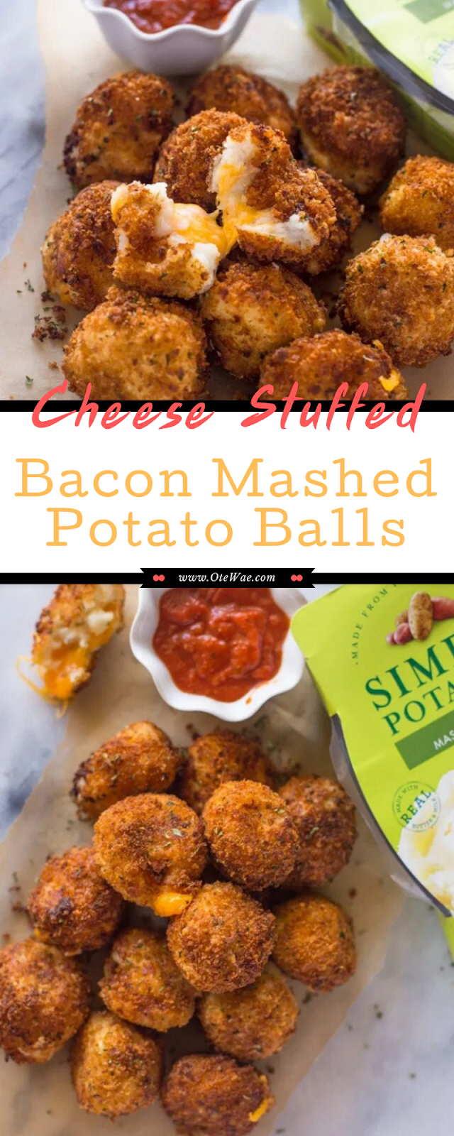 Cheese Stuffed Bacon Mashed Potato Balls