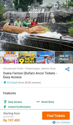 Easy Acces Dufan dengan Traveloka Xperience