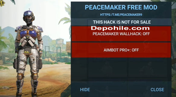 Call of Duty Mobile Peacemaker Menu Wall, Aimbot Hile 2021