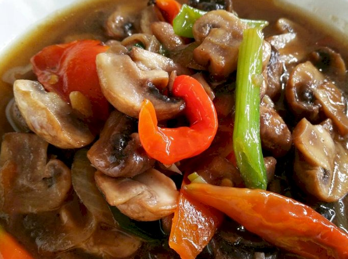 Resep Jamur kancing saus tiram