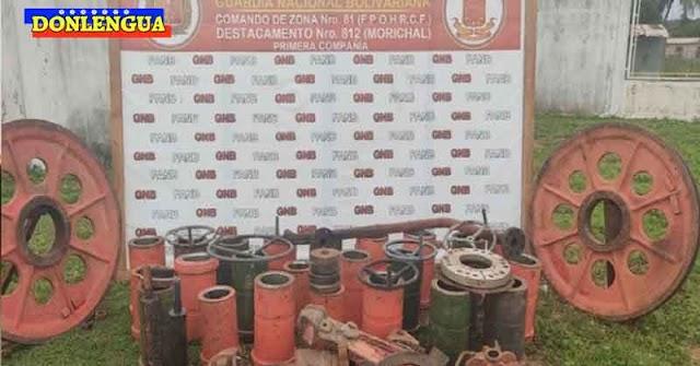 Individuo detenido por tener 2300 kilos de chatarra oxidada