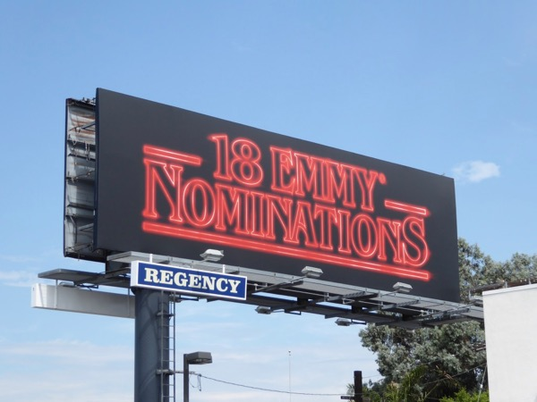 Stranger Things 18 Emmy Nominations billboard