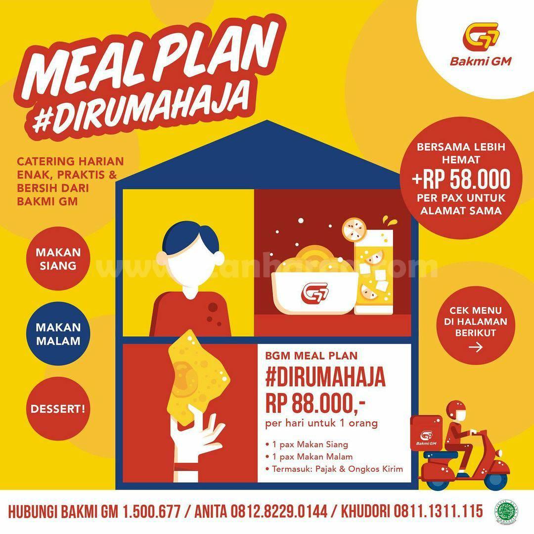 Promo BAKMI GM PAKET Meal Plan #DiRumahAja harga Hanya Rp 88.000