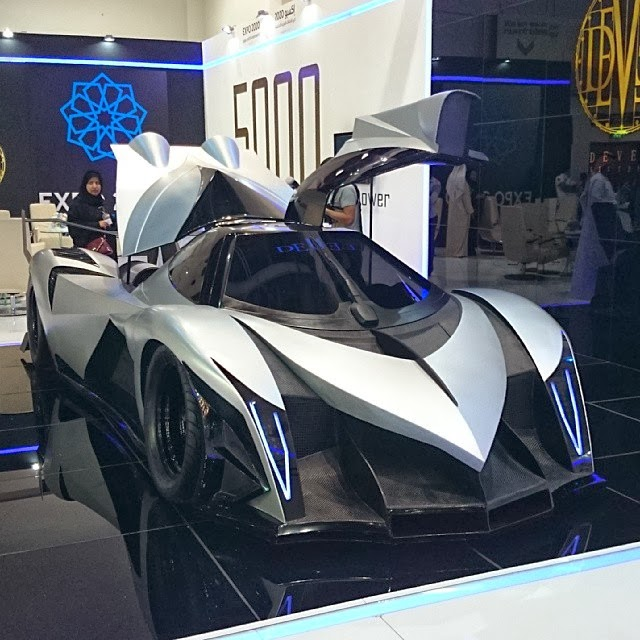 Devel Sixteen Unveiled at Dubai Motor Show Claim 5000 HP and
