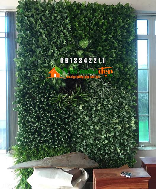 Thi Công tường cây giả - Đẹp như tường cây thật - 12