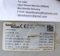 V-DTN26 Elmo Rietschle V - DTN 26 (3) Gardner Denver For sale IDEAL DIESEL MARINE INDIA