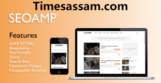SeoAMP Primium Responsive AMP Blogger Template