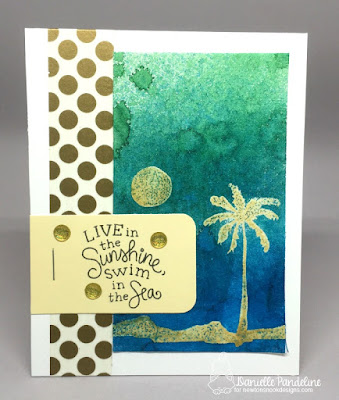 Paradise Palms | Newtons Nook Designs | Card Created by Danielle Pandeline
