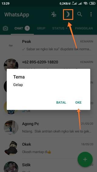 Cara Membuat Tampilan WhatsApp Mode Gelap