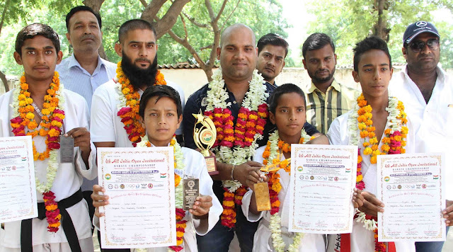 Neeraj-gold-medalist-all-india-karate-championship-nit-faridabad