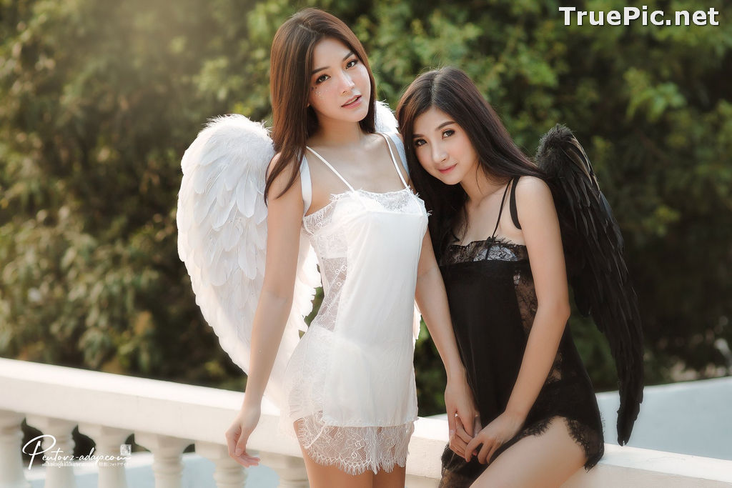 Image Thailand Model - Phitchamol Srijantanet and Pattamaporn Keawkum - Angel and Demon - TruePic.net - Picture-10