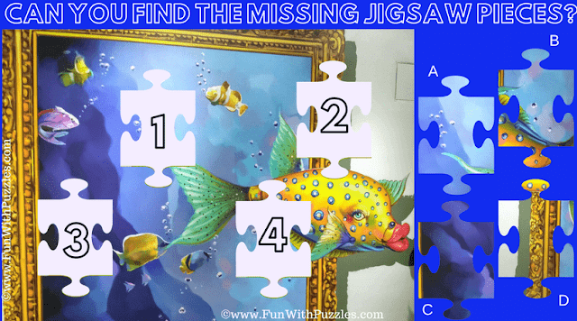 This Aquarium Jigsaw Puzzle is for Kids in which one has to find the missing Jigsaw Pieces