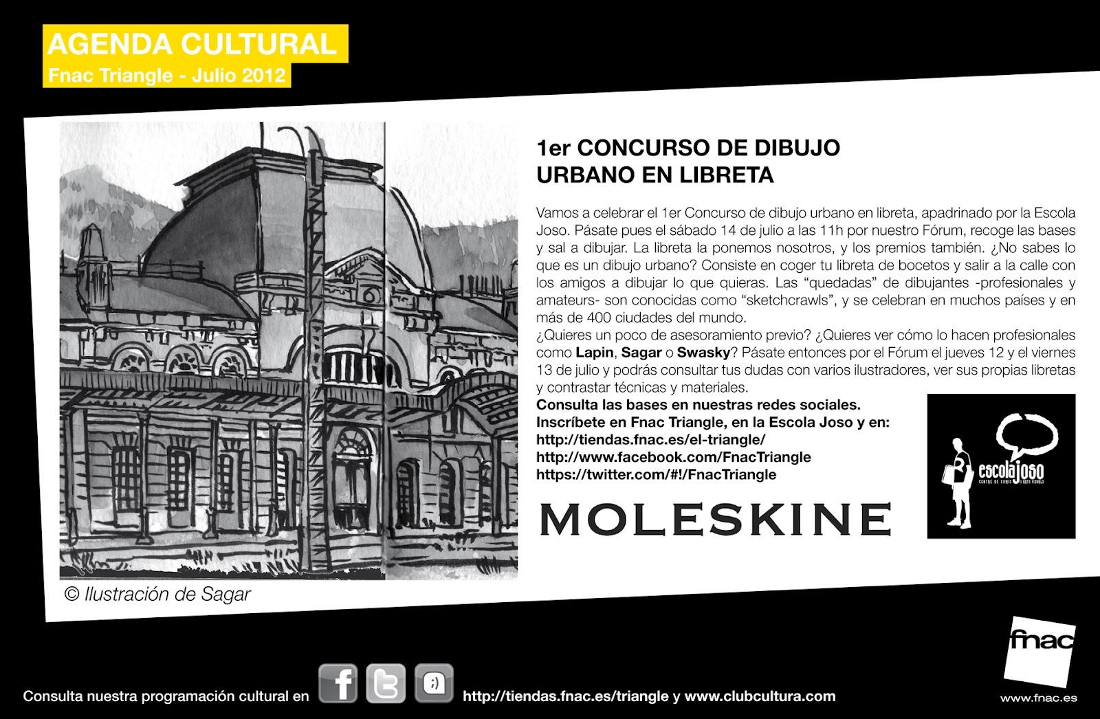 Concurso De Dibujo Urbano En Libreta Fnac Madrid: Barcelona's Sketchcrawl: 36º SketchCrawl BCN [14 Julio 2012]