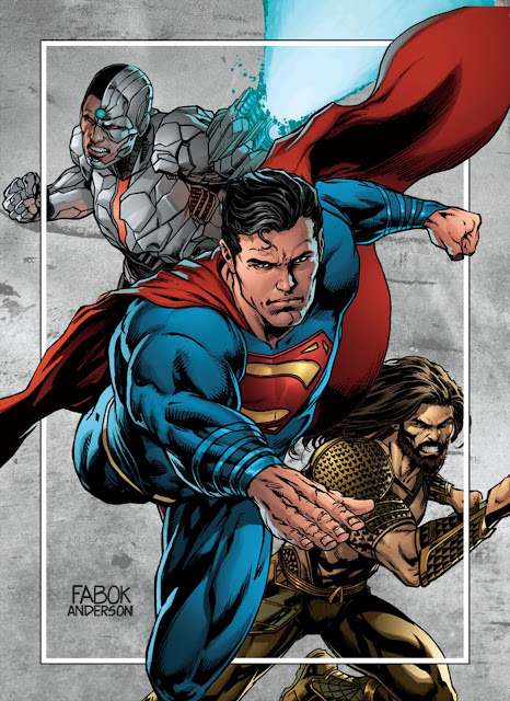 Cyborg, Superman and Aquaman