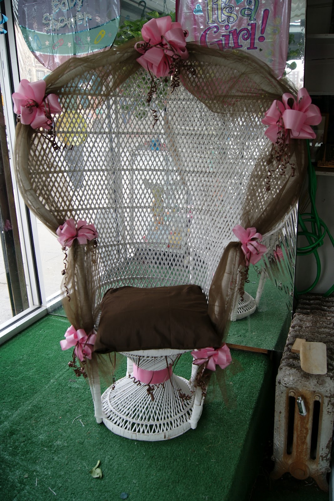baby shower chair rental french country chairs floral expressions of harlem