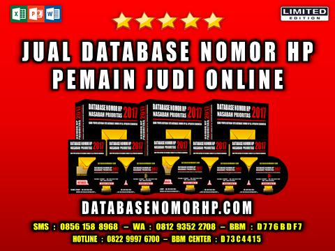 Jual Database Nomor HP Pemain Judi Online