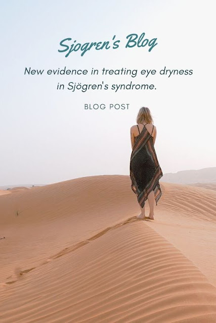 evidence in treating eye dryness in Sjogren's Syndrome