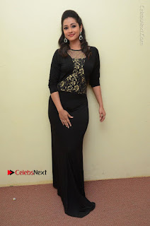 Telugu Actress Manasa Manohar Stills in Black Long Dress at Naku Nene Thopu Turumu Trailer Launch  0067.JPG