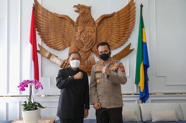Oded Ajak Kapolrestabes Baru Perkuat Kolaborasi  Menjaga Kamtibmas Kota bandung