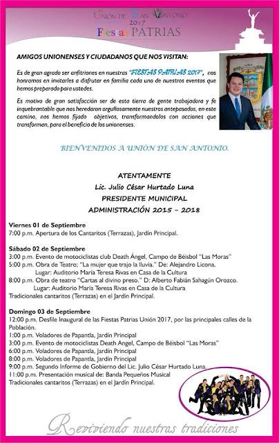 programa fiestas patrias union de san antonio 2017