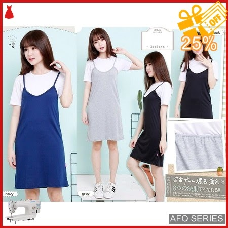 AFO010 Model Fashion Pinafore Set inner crop warna Murah BMGShop