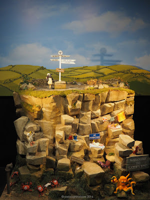 Model of Land's End featuring Shaun the Sheep