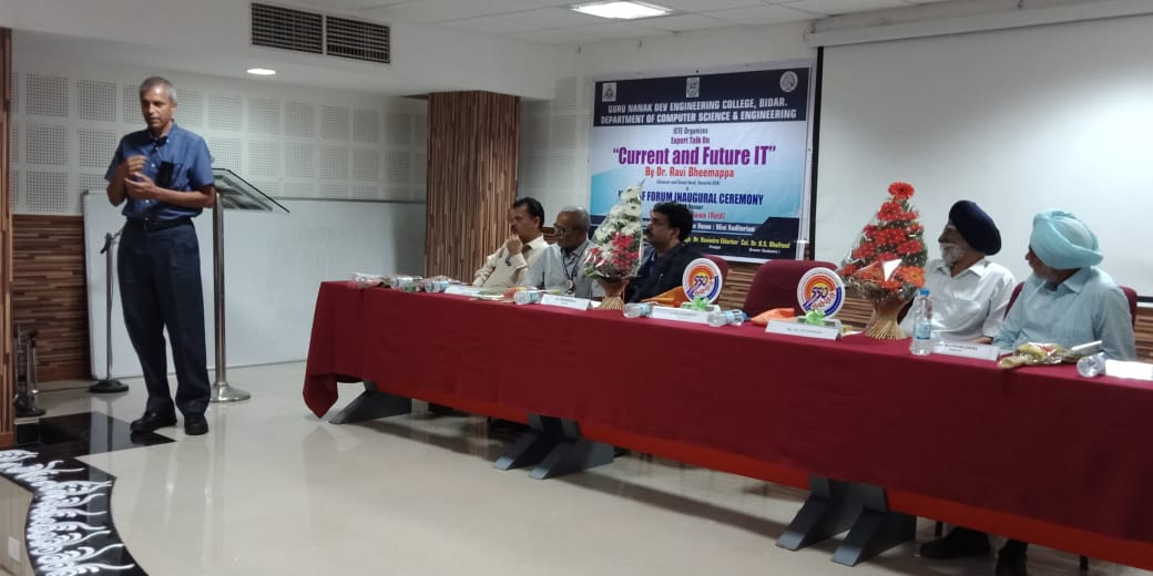 Expert Talk on <b>Current and Future IT and Inaugural Ceremony</b> of IETF organised by CSE Dept. GNDEC