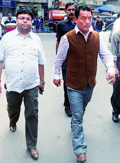 Roshan Giri and Bimal Gurung after surrendering calcutta court