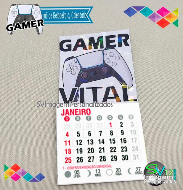 Festa Game Playstation dicas e ideias para decoração de festa personalizados imã de geladeira com calendário
