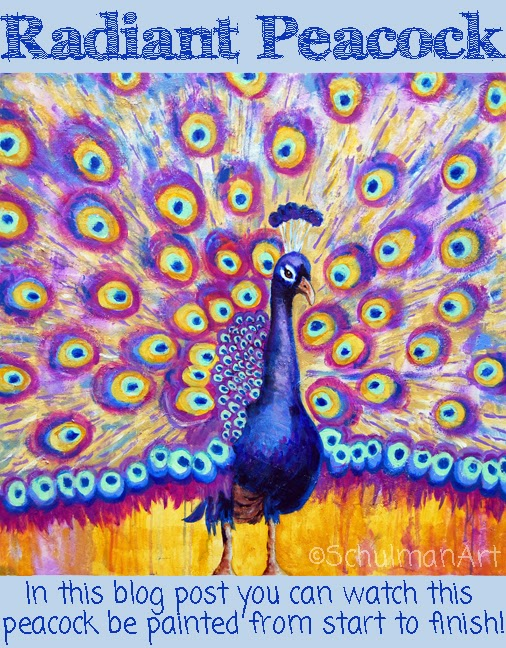 peacock painting demonstration http://schulmanart.blogspot.com/2014/03/you-dont-want-to-miss-this-peacock.html