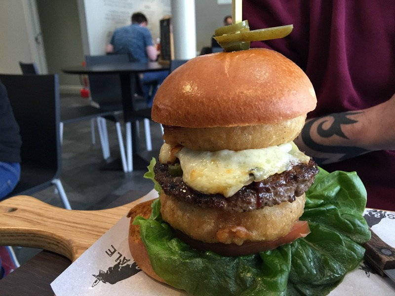 Jalapeno special burger at Angus & Ale Aberdeen