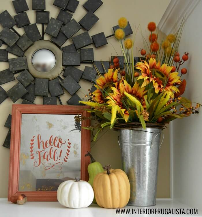 DIY Fall Distressed Mirror