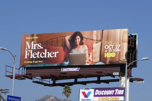 Mrs Fletcher series launch billboard