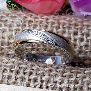 Cincin tunangan pernikahan kawin pasangan couple nikah custom limited muslim model harga terbaru paladium platina platinum perak emas putih