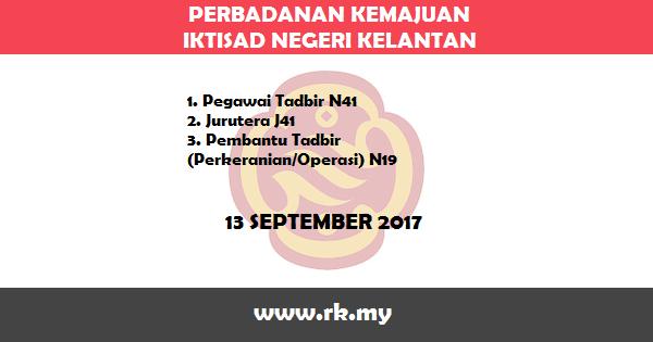 Jawatan Kosong di Perbadanan Kemajuan Iktisad Negeri Kelantan (PKINK)