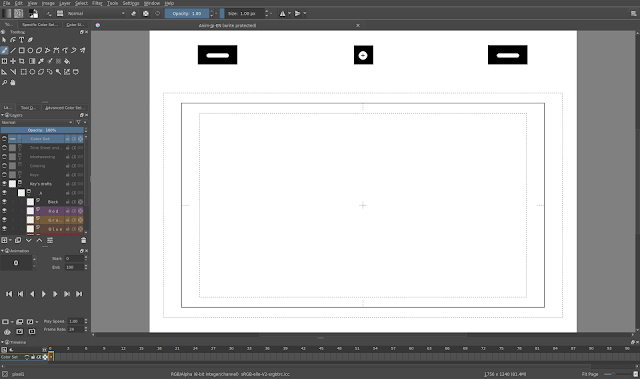 krita interface d'animation traditionnelle